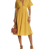 Lost and WanderV-Neck Midi Dress