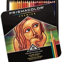 Prismacolor Premier Soft Core Colored Pencil, Set of 48 Assorted Colors (3598T)
