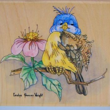 Bluebird Rubber Stamp Carolyn Shores Wright # 60042 Stamps Happen
