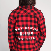 Boy Bands Ruined My Life Flannel