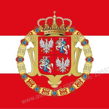 Polish-Lithuanian Commonwealth Flag 3 x 5 FT 90 x 150 cm Poland Flags Banners
