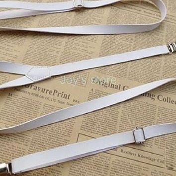 Skinny White Kids, Boy Leather Suspender Boyfriend Gift Men's Gift Anniversary Gift for Men Husband Gift Wedding Gift ForHim Groomsmen Party