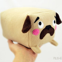 PUG loaf BIG , fat and fluffy plush toy