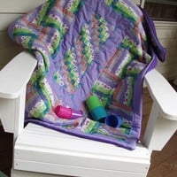 Broken Fence Rail Kinder Quilt sized for cribs and beyond