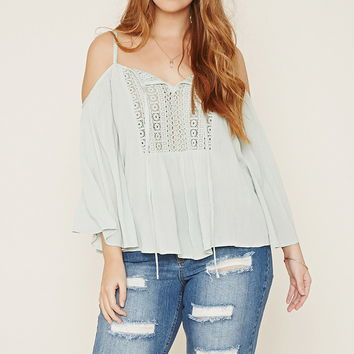 Plus Size Open-Shoulder Top | Forever 21 PLUS - 2000185666