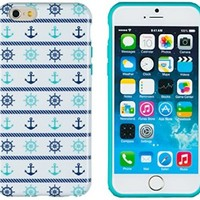 """iPhone 6 Case, DandyCase PERFECT PATTERN *No Chip/No Peel* Flexible Slim Case Cover for Apple iPhone 6 (4.7"""" screen) - LIFETIME WARRANTY [Nautical Wheel & Anchor]"""