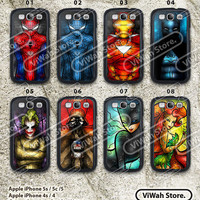 Disney Princess Samsung Galaxy S4 S3 Case, Princess Stained Glass Galaxy S4 S3 Hard Case Rubber Case, cover skin case for Samsung S4 S3 case