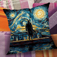 Starry Night Sherlock  decorative pillow and pillow case