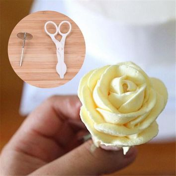 Rose Cream Cake Decorating Tools receptacle scissors Russia Tulip Tips nozzles flowers baking Fondant Full set Mold