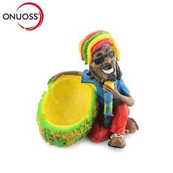 ONUOSS Car Ashtray Fashion Bob Marley Ashtray Large Fashion Personalized Resin Ashtray and Decoration Gift Smoking Accessories