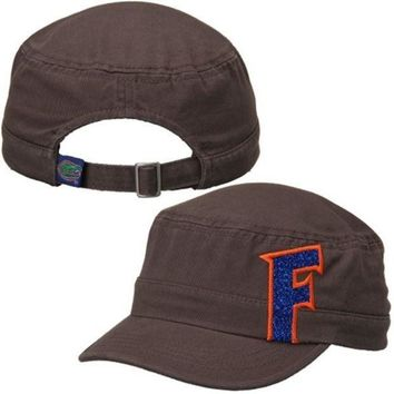 ESBON NCAA Florida Gators Women's Top of the World Charcoal Party Girl Cadet Adjustable Hat