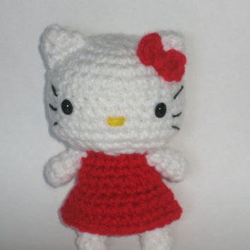 Hello Kitty inspired Crochet Doll Toy