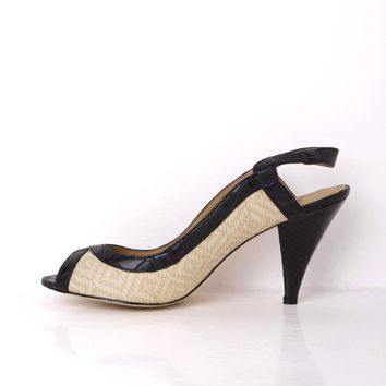 Pilar Abril Peep Toe Heeled Shoes