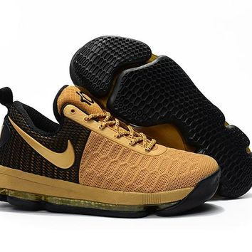 Nike KD 9 Black Golden Basketball Shoes