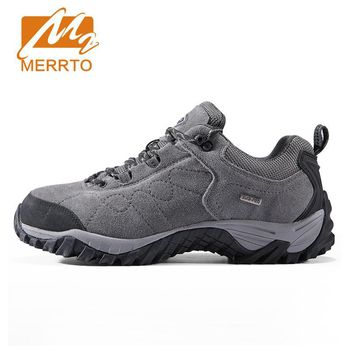 Merrto Suede Leather Hiking Shoes Men Women Trekking Shoes Men Outdoor Sports Sneakers Walking Climbing Shoes Mens Hiking Boots