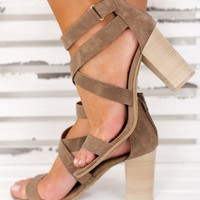 Back To You Strappy Booties (Taupe)