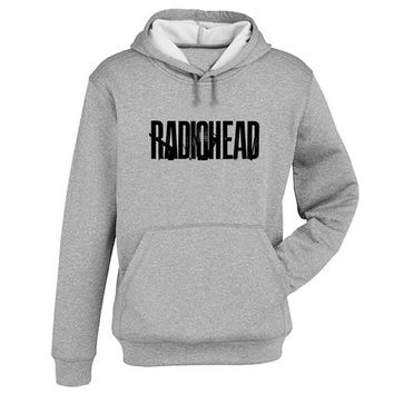 radio head logo Hoodie Sweatshirt Sweater Shirt Gray and beauty variant color for Unisex size