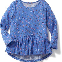 Floral Peplum-Hem Top for Toddler Girls | Old Navy