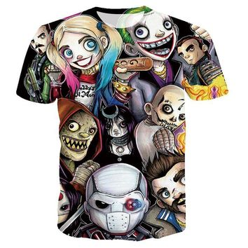 Deadpool Dead pool Taco Women  Men Harley Quinn  SKULL T Shirt The Joker Suicide Squad Tee Shirt Homme 3D Camiseta Shirts Hip Hop Tees Clothes AT_70_6