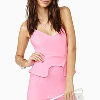 Nasty Gal Pure Sugar Peplum Dress
