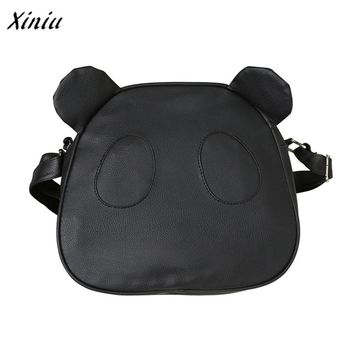Xiniu New Arrival Women Fashion Cute Panda Leather Handbag Small Crossbody Shoulder Bags Black White Casual Tote bolsa feminina