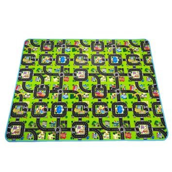 0.5 cm Thick Town City Blanket Traffic Baby Crawling mat EVA Foam Climbing Pad Green Road Child Play Mat Carpet for Baby toys