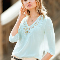 Embroidered Blouse - Victoria's Secret