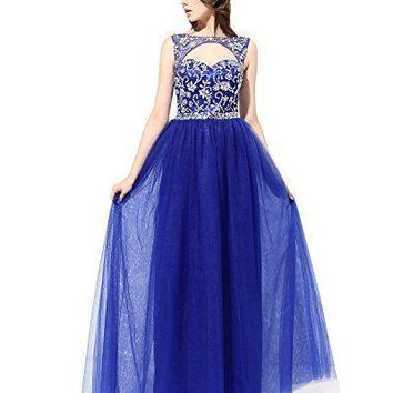 Women's Long Tulle Prom Dress
