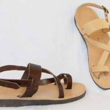 SPECIAL SALE - Roman Greek leather sandals size 8 (EU size 39)