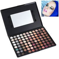 88P02 Multifunction Rectangle Box Makeup 88 Colors Eye Shadows Palette with Mirror and Two Applicators Inside