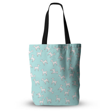 "Monika Strigel ""Baby Llama Multi"" Blue White Everything Tote Bag"