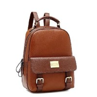 Tinksky® Vintage Leather Backpack for School (Brown)