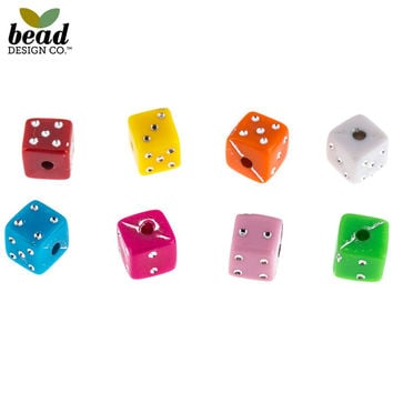 Multi-Color Dice Beads - 6mm | Hobby Lobby | 1406149