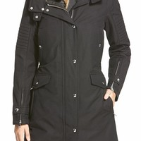 1 Madison Water Repellent Hooded Coat with Faux Fur Lining | Nordstrom