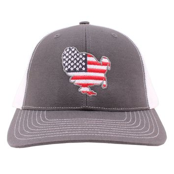 American Flag Turkey Hat in Charcoal and White by Southern Snap Co.