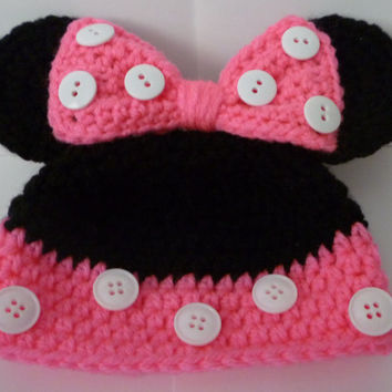 Minnie Mouse Hat/ Beanie  - Any Size & Color
