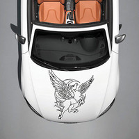 PEGASUS HORSE WITH WINGS ART MURALS DESIGN HOOD CAR VINYL STICKER DECALS SV1057