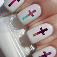 Galaxy Cross Nail Decals 24 Ct.