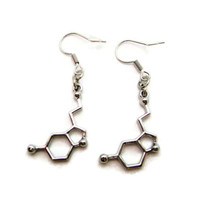 Serotonin Earrings Molecule Earrings Science Earrings STEM Earrings Chemistry Earrings Serotonin Jewelry Science Jewelry
