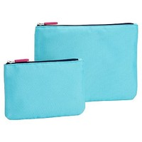 Gear-Up Colorblock Flat Pouches, Set of 2