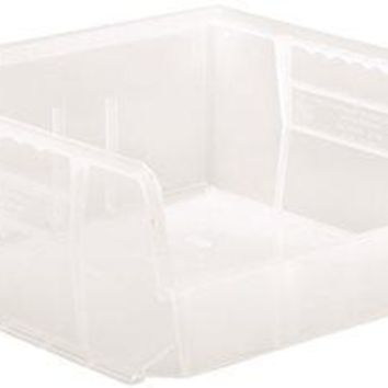 "Quantum Storage Systems Stack And Hang Bin, 10-7-8"" X 11 X 5"", Clear"
