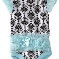 Vitamins Baby Baby-Girls Infant Damask Print Tutu Bodysuit