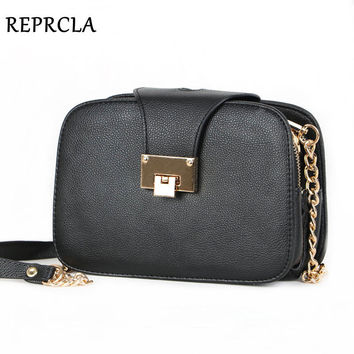 REPRCLA Summer New Fashion Women Shoulder Bag Chain Strap Flap Messenger Bags Designer Handbags Clutch Bag With Metal Buckle