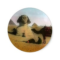 Egyptian Classic Round Sticker