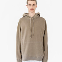 Pigment Dyed Washed Hoodie in Faded Khaki
