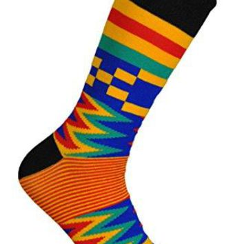 Kente Cloth Socks for Dress or Casual