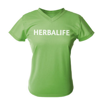 herbalife t shirt, green, woman