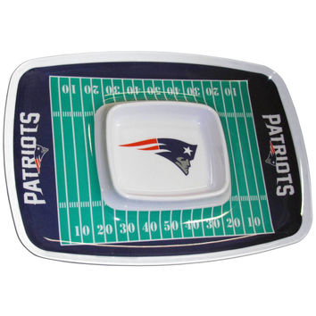 New England Patriots Chip and Dip Tray FCTY120