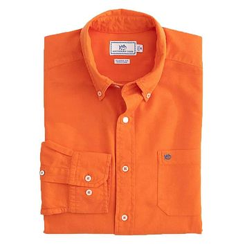 Garment Dyed Oxford Sport Shirt by Southern Tide
