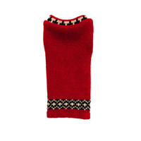Designer Dog Sweater, XX Small Red Christmas Holiday, Chihuahua, Maltese Handmade Pet Apparel Clothes